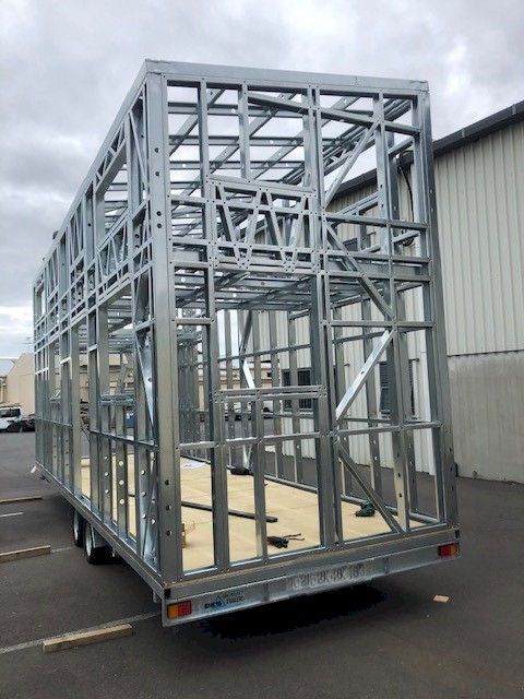 Trailer - for your tiny home made of steel framing
